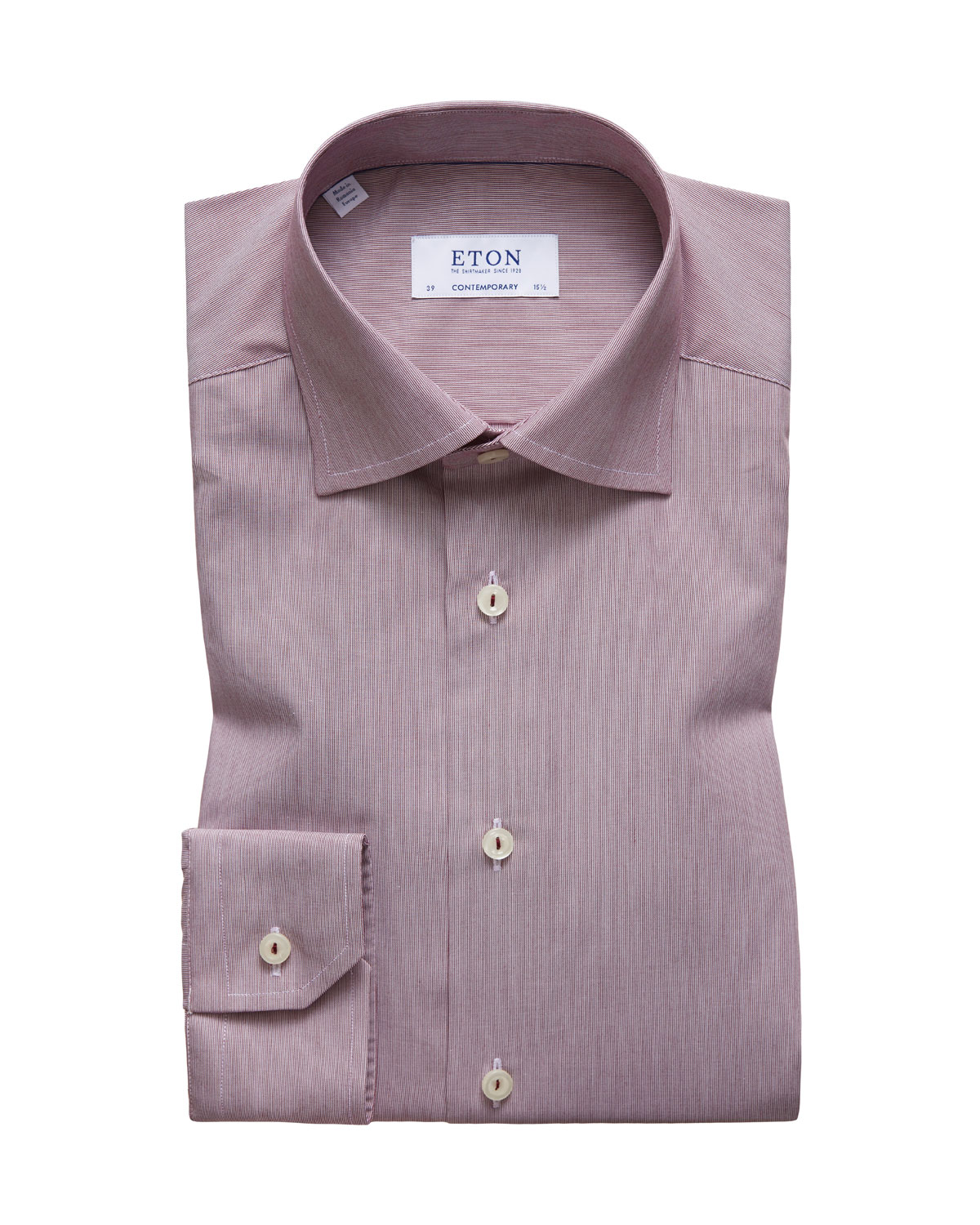 Men's Hairline Stripe Contemporary-Fit Dress Shirt