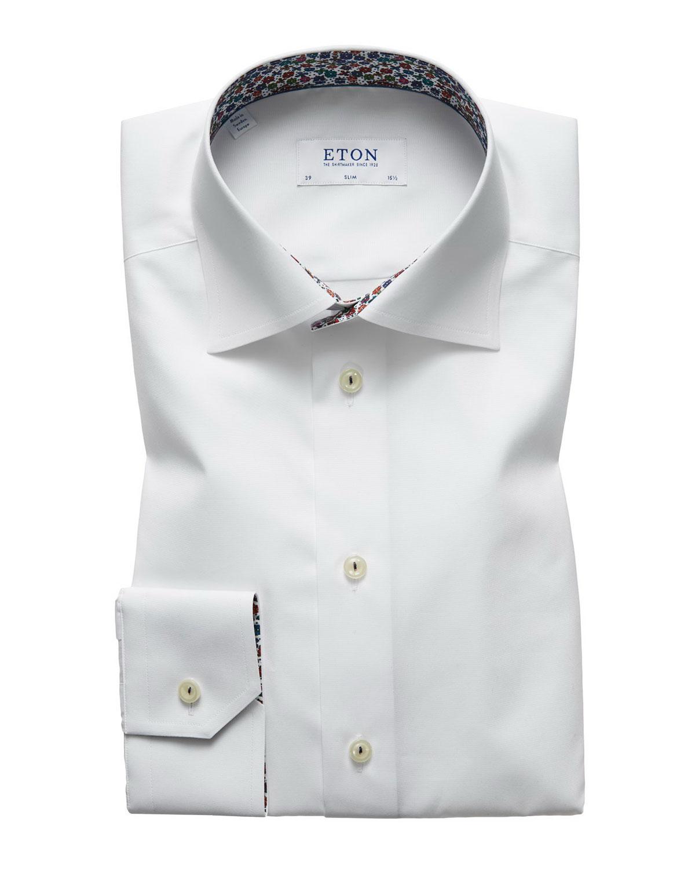 Men's Slim Fit Poplin Dress Shirt