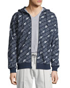 Adidas Men's Zip-Front Logo Graphic Hoodie