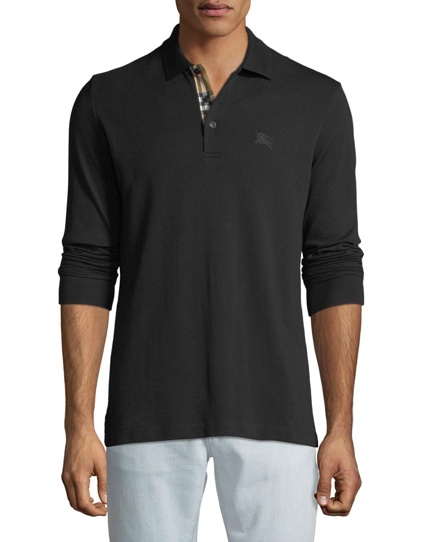 Men'S Hartford Long-Sleeve Polo Shirt in Black