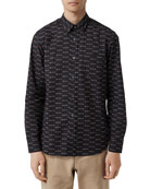 Burberry Men's Edward Archive Logo Sport Shirt