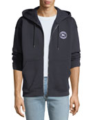 Burberry Men's Atilla Logo-Detail Zip-Front Hoodie