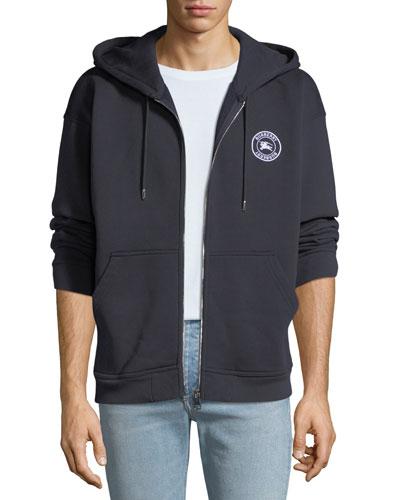 Men's Atilla Logo-Detail Zip-Front Hoodie