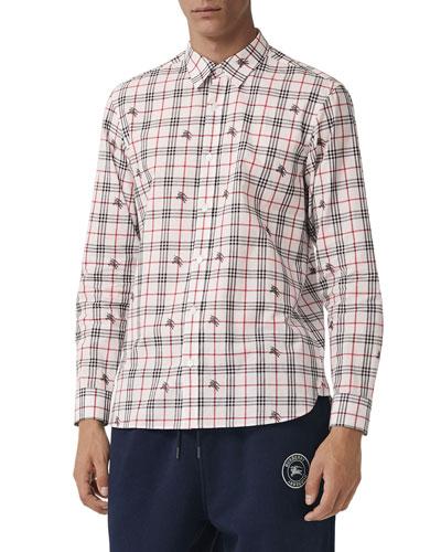 Men's Edward Signature Check Sport Shirt