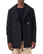 Burberry Men's Claythorpe Contrast-Face Pea Coat