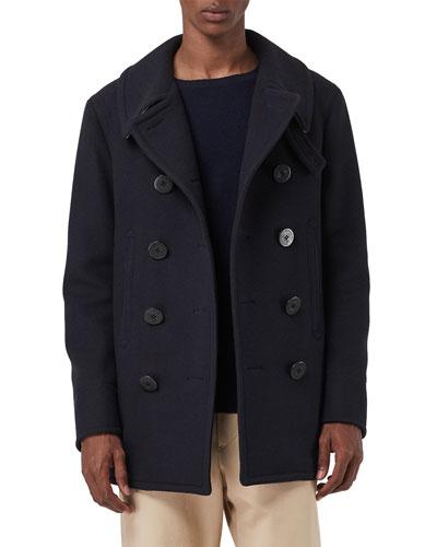 Men's Claythorpe Contrast-Face Pea Coat