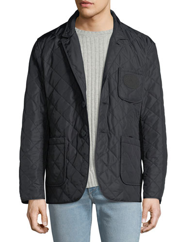 Men's Clifton Quilted Button-Front Utility Jacket
