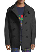 Burberry Men's Claythorpe Double-Breasted Wool Coat