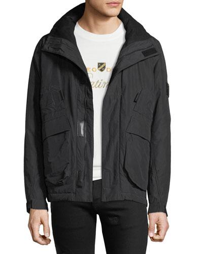 Men's Pack Away-Hood Zip-Front Jacket