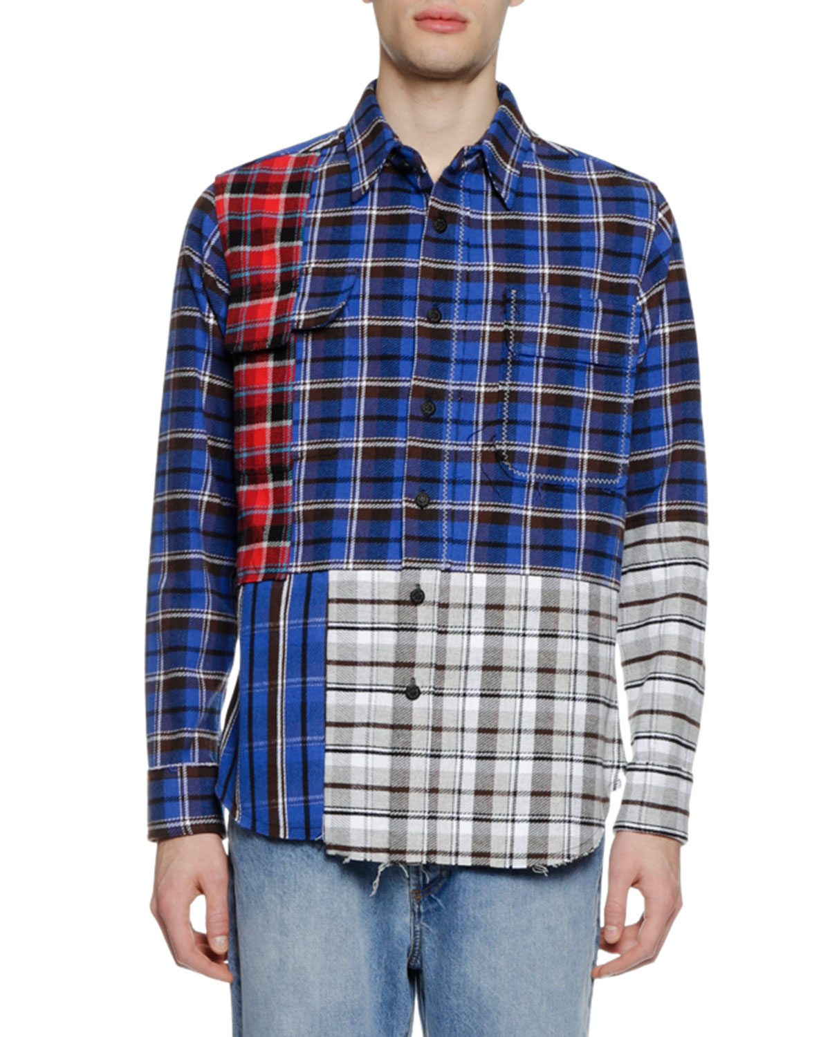 Men's Check Reconstructed Sport Shirt
