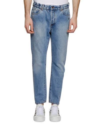 Men's Slim Low-Crotch Jeans