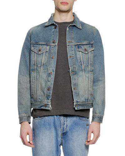 Men's Vintage-Wash Denim Jacket