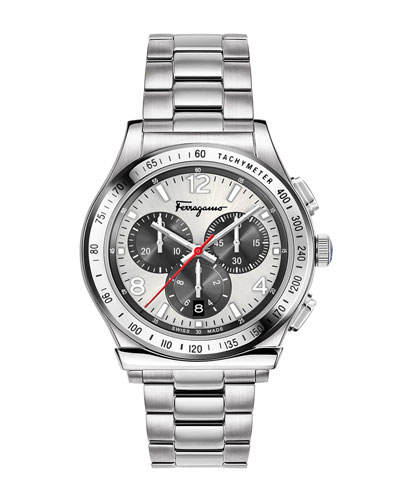 Men's 1898 Chronograph Bracelet Watch, Silver