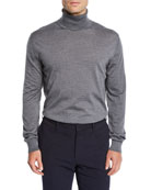 Ermenegildo Zegna Men's Heathered Wool Turtleneck Sweater