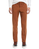 Ermenegildo Zegna Men's Casual Solid Chino Straight-Leg Pants