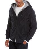 Ermenegildo Zegna Men's Hooded Reversible Zip-Front Jacket