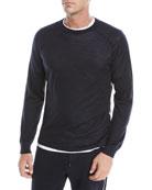 Ermenegildo Zegna Men's Wool Crewneck Sweatshirt