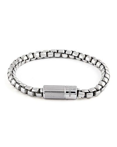 Men's Snake Chain Sterling Silver Bracelet, 18mm