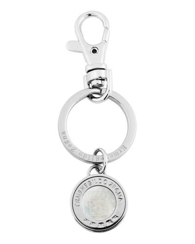 551834b592d Quick Look. Ermenegildo Zegna · Men s Rhodium-Plated Signature Logo Key Ring