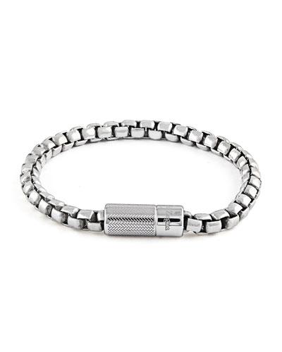 Men's Silver Snake-Chain Bracelet. 19.5mm