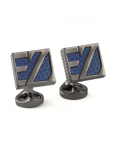 Ermenegildo Zegna EZ Enamel Cuff Links, Blue