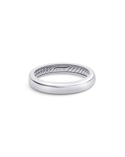 Men's Streamline Thin Gray Titanium Band Ring