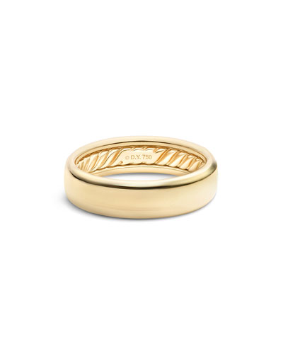 Men's Streamline 18k-Gold Band Ring