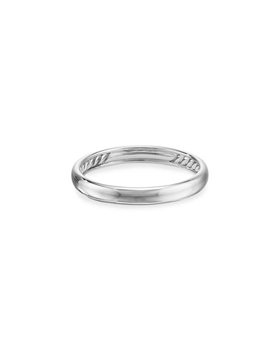Men's 18k White Gold Smooth Band Ring, 3.5mm