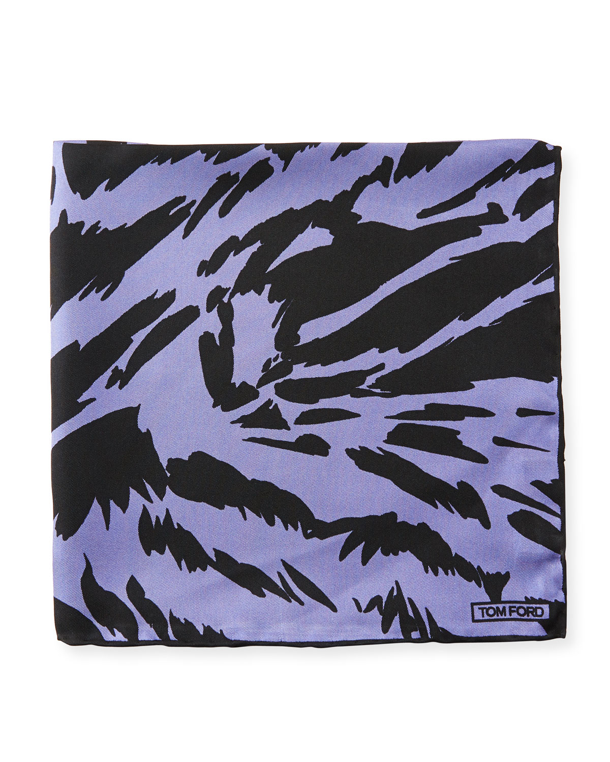 Zebra-Print Silk Pocket Square