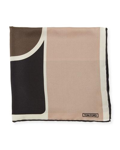 Sand-Print Silk Pocket Square