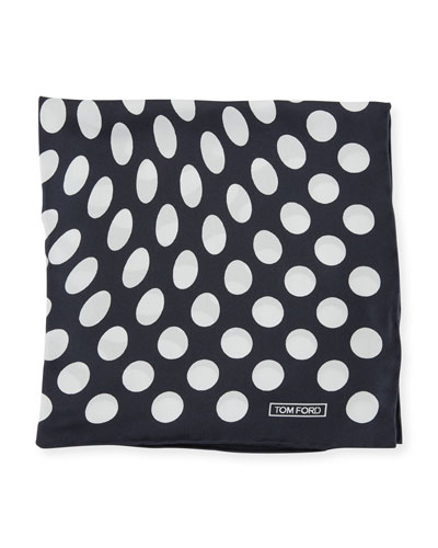 Large Dot Pocket Square