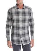 Ermenegildo Zegna Men's Woven Plaid Sport Shirt