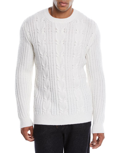 Cable Knit Sweater Neiman Marcus