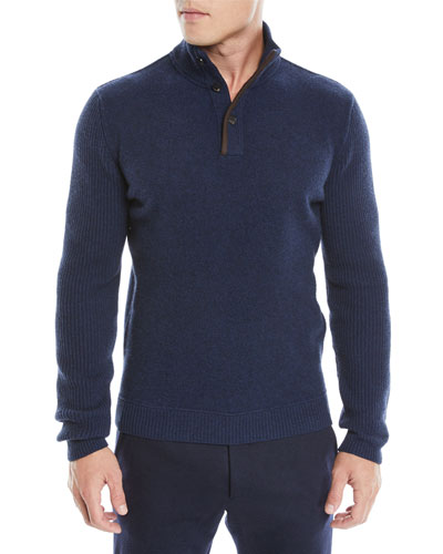 Men's Wool-Blend Pullover Sweater