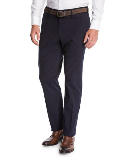 Men's Suede-Trim Chino Pants
