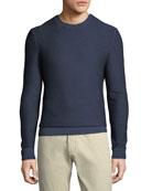 Ermenegildo Zegna Men's Cashmere Garment Dyed Crewneck Sweater