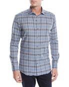Ermenegildo Zegna Men's Woven Medium-Plaid Sport Shirt