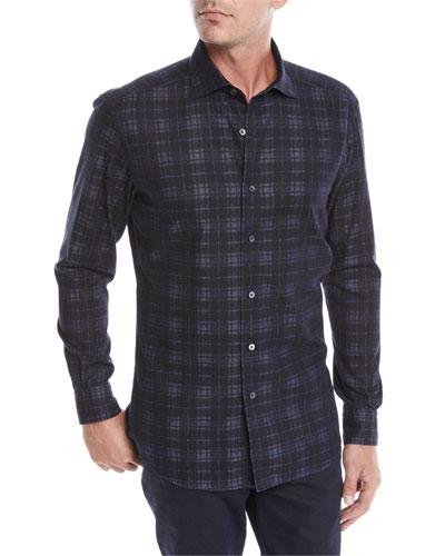 Men's Large-Plaid Woven Shirt