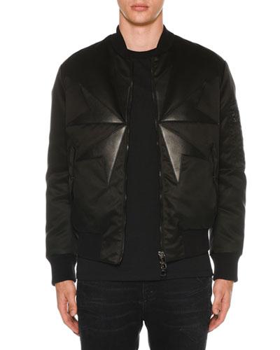 Men's Goth Cross Bomber Jacket