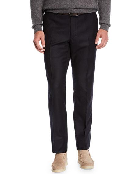 Loro Piana Men's Straight-Leg Flannel Pants
