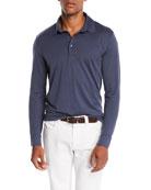 Loro Piana Men's Cose Long-Sleeve Jersey Polo Shirt