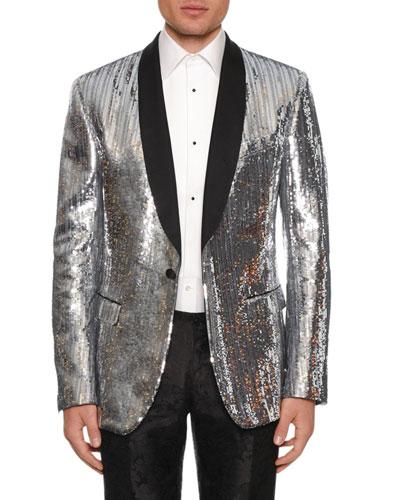 Men's Sequined Evening Jacket