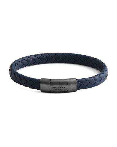 Men's Rubber Braided Bracelet, Size M