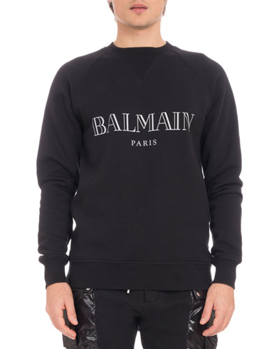9076f1b4 Quick Look. Balmain · Men's Logo Crewneck Raglan Cotton Sweatshirt