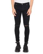 Balmain Men's Ultra Skinny Destroyed Jeans