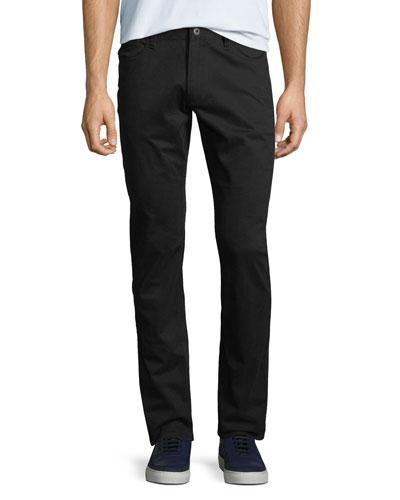 Men's Stretch-Satin Straight-Leg Pants
