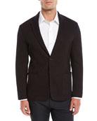 Emporio Armani Men's Soft 3D Jersey Two-Button Blazer