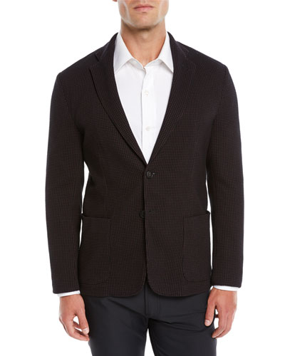 Men's Soft 3D Jersey Two-Button Blazer Jacket