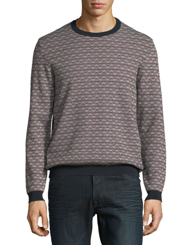 5fc4ef598734 Quick Look. Emporio Armani · Men s Geometric-Knit Jacquard Sweater