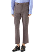Gucci Men's Straight-Leg Ankle Trousers